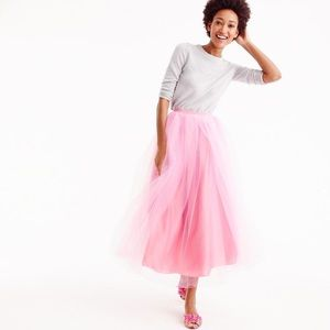 J crew pink tulle maxi skirt pink size 10